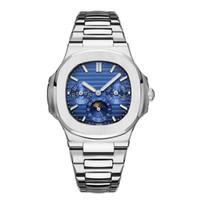 vente de bracelets diamant bleu achat en gros de-2019 Nouveau Top Nautilus Sports Watch Hommes Automatique Monement Montres Or Rose Argent Case En Acier Inoxydable Mens Montres Mécaniques 3 Cadran