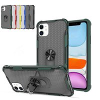 Wholesale magnetic phone holders for cars for sale – best 2 in Ring Holder Case Magnetic Car Kickstand Phone Case Transparent Hybrid Armor Cover For iPhone Pro Max XR Samsung Note10