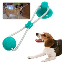Wholesale soft rubber dog toys for sale - Group buy Multifunction Pet Molar Bite Dog Toys Rubber Chew Ball Cleaning Teeth Safe Elasticity Soft Puppy Suction Cup Dog Biting Toy