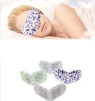 feiner lavendel großhandel-Schlafmasken Augenmaske Lavendelöl Dampf Gesichtspflege Haut Dunkler Kreis Augentaschen Beseitigen Sie geschwollene Augen Feine Falten Anti-Aging