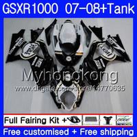 ingrosso k7-7Gifts + Tank per SUZUKI GSXR-1000 K7 GSX-R1000 GSXR 1000 07 08 301HM.10 GSXR1000 07 08 Carrozzeria GSX R1000 2007 2008 Lucky black hot Fairings