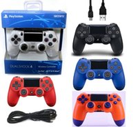 Wholesale playstation games free for sale - Newest PS4 Wireless Game Controller Gamepad Joystick High Quality Playstation with Retail package free DHL shipping