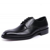 мужская обувь для ползунов оптовых-New Genuine Leather Creepers Flats Good Quality Men Shoes Hot Sale Zapatos Mujer Black Mens Shoes Dress Formal JS-A0093