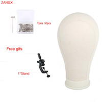 Wholesale stand 21 for sale - Group buy 21 quot quot quot quot quot Mannequin Head For Wig Making Display Styling Manikin Head Wig Stand With free T pins Block Canvas