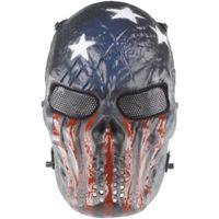mascarillas militares al por mayor-Ojo al aire libre de la malla metálica del ejército de la máscara de la máscara de la protección completa de la cara para dropshipping