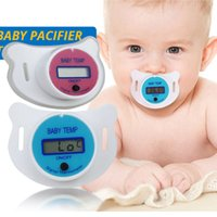 termômetros digitais do bebê venda por atacado-Termômetro do Bocal do bebê Médica Silicone Chupeta LCD Digital Termômetro Para Crianças de Cuidados de Segurança da Saúde Termômetro Para Crianças C2