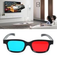 Wholesale 3d glasses video games for sale - Group buy Universal Type D Glasses TV Movie Dimensional Anaglyph Video Frame D Vision Glasses DVD Game Glass Red And Blue Color