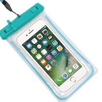 ich telefoniere transparent großhandel-Transparente Handytasche Wasserdichte Handytasche 6.0 Diagonal PVC Packsack Für I 6S 6 Plus Samsung