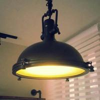 Wholesale industrial kitchen lighting pulleys resale online - American industrial loft Vintage pendant lights for dining room iron Black lamparas colgantes pulley pendant light home lighting