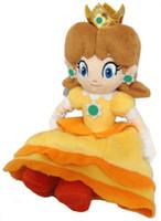 muñecas princesa mario al por mayor-Pudcoco Hot Xmas Girf 7 pulgadas juguetes rellenos Fot niños Super Mario Bros princesa de peluche Peach Daisy muñeca suave juguete lindo regalos