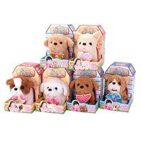 brinquedos mini caminhada venda por atacado-Eletrônica Andando Animais De Estimação Robô Cães Brinquedo Eletrônico Animais De Estimação Cão Bark Stand Andar Robôs Brinquedos Dog For Kids Menina Presentes