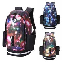 Wholesale sky panels online - New Kobe Backpack Fashion Brand Mens Womens Designer Bags Universe Starry Sky Backpack Students Bags Colour