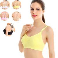 bh ohne riemen zurück großhandel-Sport-BH Frauen ohne Stahlring Yoga Cross Back Sexy Strap Fast Dry Sport-BH