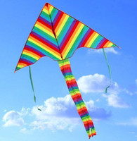 Wholesale games activities kids resale online - Rainbow Kite Summer Outdoor Toys Fun Sports Kite Children Triangle Color Kite Easy Fly Games Activities Kid Gift Fashion Activities Cartoon