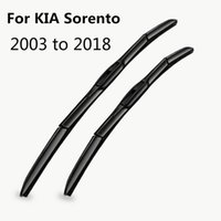 Wholesale wiper blade arms resale online - Car Windshield Wiper Blades for KIA Sorento Fit Hook Arms Model Year from to Soft Rubber Frameless Bracketless Wipers