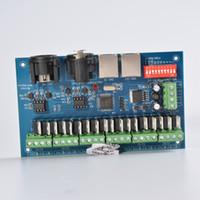 dmx 24v dimmer al por mayor-Canal 18A 3A / Ch DMX512 con decodificador LED RJ45 Easy DMX, controlador, atenuador, unidad para LED Módulos de tira RGB DC 12-24V