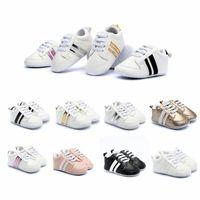 jungen schlüpfen sneakers groihandel-Neugeborene Baby-Turnschuhe Mode-Kleinkind-Schuhe Jungen Mädchen weichen unteren Schuhe Baby-Kind-Designer Sport Erste Wanderer HHA578