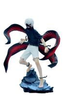 tokio ghoul kaneki figura de acción al por mayor-NUEVO caliente! 23 cm Kaneki Ken Tokyo Ghoul 2 generación de oscuro Jin Muyan pvc figura de acción juguetes regalo de Navidad