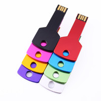 usb sürücüler toptan satış-Ücretsiz Özelleştirmek Logosu Gravür 100 ADET 128 MB / 256 MB / 512 MB / 1 GB / 2 GB / 4 GB / 8 GB / 16 GB Metal Anahtar USB Flash Sürücü 2.0 Bellek Flash Pendrive Sopa