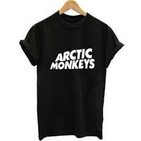 одежда в стиле рок-стиля оптовых-Женская футболка унисекс стиль Майка женщины Harajuku арктические обезьяны Зеленый день плюс размер K-Pop Rock женщина футболка 2019 летняя одежда