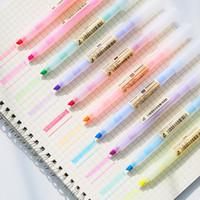 Wholesale kawaii highlighters resale online - Cute Plastic Highlighters Manga Anime Pens Kawaii School Graffiti Markers For Drawing Korean Stationery Art Supplies