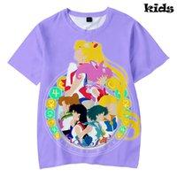 cooles mädchen scherzt t-shirt großhandel-Sailor Moon t-shirt 3D Druck Grundlegende Kühle Populäre Kinder Kurzarm casual kpop hip hop Sommer Mode Jungen / Mädchen T-shirt kpop