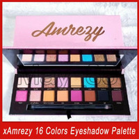 2020 Newest xAmrezy 16 Colors Eyeshadow Paette xAmrezy Shimmer Matte eyeshadow eye shadow eye make up Cosmetics with dhl shipping