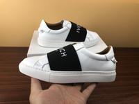 cintas de zapatos al por mayor-zapatos de diseñador con zapatos casuales de cuero genuino con zapatillas de deporte de lujo Ribbon para hombres.