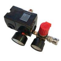controle de pressão do compressor venda por atacado-90-120PSI Compressor de ar Pressostato Válvula de Controle Manifold Regulador Gauges