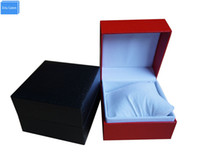 Wholesale best jewelry packaging for sale - Group buy Black Red Mixed Material Casual Fashion Watch Boxes Hour Gift Custom Packaging Best Modern Promote Jewelry Gift Box