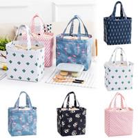 piknik için soğutucu çantası toptan satış-Sevimli Kadınlar Bayanlar Kızlar Çocuklar Taşınabilir Yalıtımlı Öğle Yemeği Çantası Kutusu Piknik Tote Soğutucu
