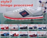 koreanische markenschuhe großhandel-Luxus-Designer USA Marke Mens Schuhe Presidents Schuhe N Brief Logo Breathable laufende Turnschuhe weibliche koreanische Version von wilden Schuhen Jogging