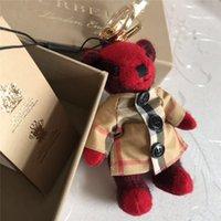 llaves de juguete de alta calidad al por mayor-Marca al por mayor de accesorios de bolso de alta calidad de cachemir oso llavero último diseño manos y pies puede girar oso de juguete