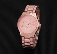 ingrosso orologi famosi delle donne di quarzo-Orologio casual Famous Brand Quartz-Watch Uomo Donna Kaki in acciaio cinturino da polso Orologi Relojes Montre Homme Erkek Kol Orologio da polso