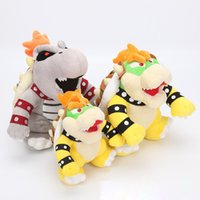 bowser weiche spielzeug großhandel-Super Mario Plüschtiere 10inch Koopa Bowser Drache Plüschpuppe Brothers Bowser weiche Plüschpuppe Kinder Geschenk