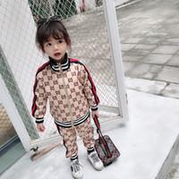 chaquetas de bebé niña caen al por mayor-Ropa de bebé para niños Niño Niña Traje deportivo Primavera Otoño Conjunto Vetement Garcon Rebeca Chaqueta de bebé + pantalones Ropa de niño para envío gratis