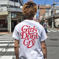 hip hop şortlu gömlek kızları toptan satış-Kızlar Ağlamaz T-Shirt Tee Kısa Kollu Pamuk Yaz T-Shirt Erkek Kadın Moda Casual Tees Hip Hop Streetwear HOH0313