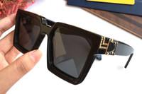 горячие очки квадратные оптовых-Роскошные миллионер квадратные солнцезащитные очки полный кадр старинные дизайнерские солнцезащитные очки для мужчин блестящий золотой логотип Hot sell позолоченный топ 96007 с коробкой