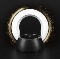 Wholesale Lighting LED Wireless Table Lamp Speaker Moon Bay Night Lights Portable Bluetooth Music Player Dimmable Touch Control Charge