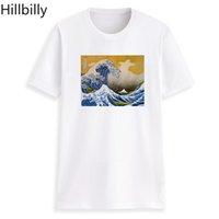 ingrosso pittura a olio d'onda-Hillbilly giapponese Ukiyo-e Wave pittura ad olio grafica T Shirt donna 2018 Vintage maglietta tee Shirt in cotone Plus Size T Shirt donna Y19042101