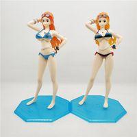 tek parça nami oyuncak toptan satış-One Piece Nami karikatür anime aksiyon figürü oyuncak çocuk hediye bikini kız seksi mayo Ver. 2 yıl önce boyalı figürler