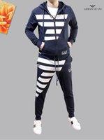takım elbisesi toptan satış-Tasarımcı Eşofman Tişört Ve Pantolon Erkek Eşofman Ince Kesit Pamuk Bahar sonbahar En kaliteli Promosyon büyüleyici koşu takım elbise erkekler