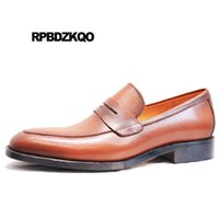 натуральная кожа нубук натуральная кожа оптовых-Large Size Nubuck Loafers  Italian High Quality Genuine Leather Dress Italy Office British Style Men Formal Suede Shoes