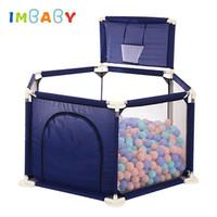 ingrosso giocattoli per bambini-IMBABY Baby Box per bambini Palline da biliardo Box giocattolo per 0-6 anni Ball Pool Recinzione per bambini Tenda per bambini Tenda Palla