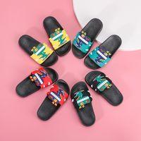 Wholesale children house shoes resale online - PVC Plastic House Kids Slippers Shoes Indoor Anti slip Children Baby Girls Boys Cartoon slippers