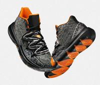 ingrosso basket ball shoes-Con Box 2019 Limited 5 Taco Scarpe da basket 5s Black Magic per Kyrie Chaussures de basket ball Scarpe da ginnastica uomo Sneakers Zapatillas 40-46