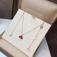 Wholesale clover shaped necklaces resale online - Fashion clover fan shaped black agate diamond gold necklace pendant womans fashion brand designer jewelry for womans