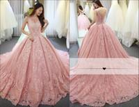 lavanda velha venda por atacado-Luxo Rosa Quinceanera Vestidos de Baile Vestidos de Baile Vestidos de Baile Vestidos de Renda Com Apliques de Renda Sem Encosto Doce de 16 Anos de Idade Vestido de Formatura adulto