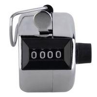 tally zähler ziffer nummer clicker golf großhandel-ACEHE Digitaler Handzähler 4-stellige Zahl Handzähler Manuelles Zählen Golf Clicker Heißer Verkauf