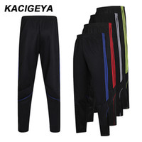 0a423130d49a1 Sport Trousers Men Breathable Running Pants With Zipper Pocket Training  Trousers Football Stripe Men Slim Training Pants 2019